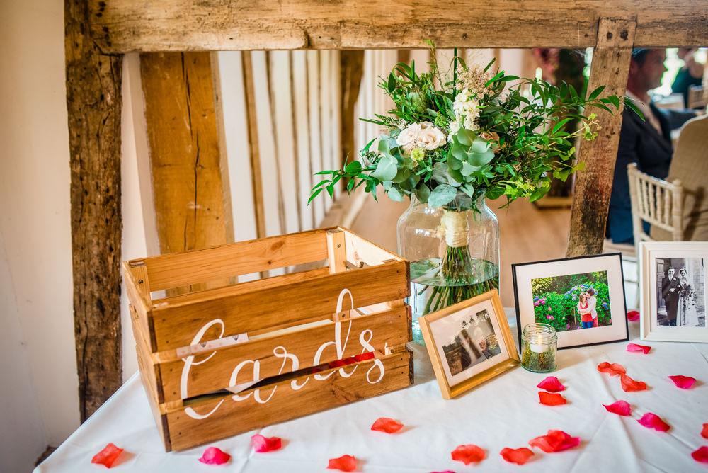 Wooden Card Box Colville Hall Wedding GK Photography