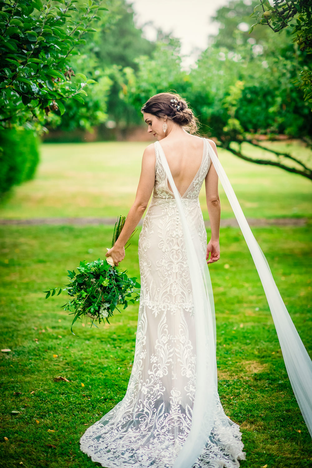 Dress Gown Bride Bridal Made with Love Lace Colville Hall Wedding GK Photography
