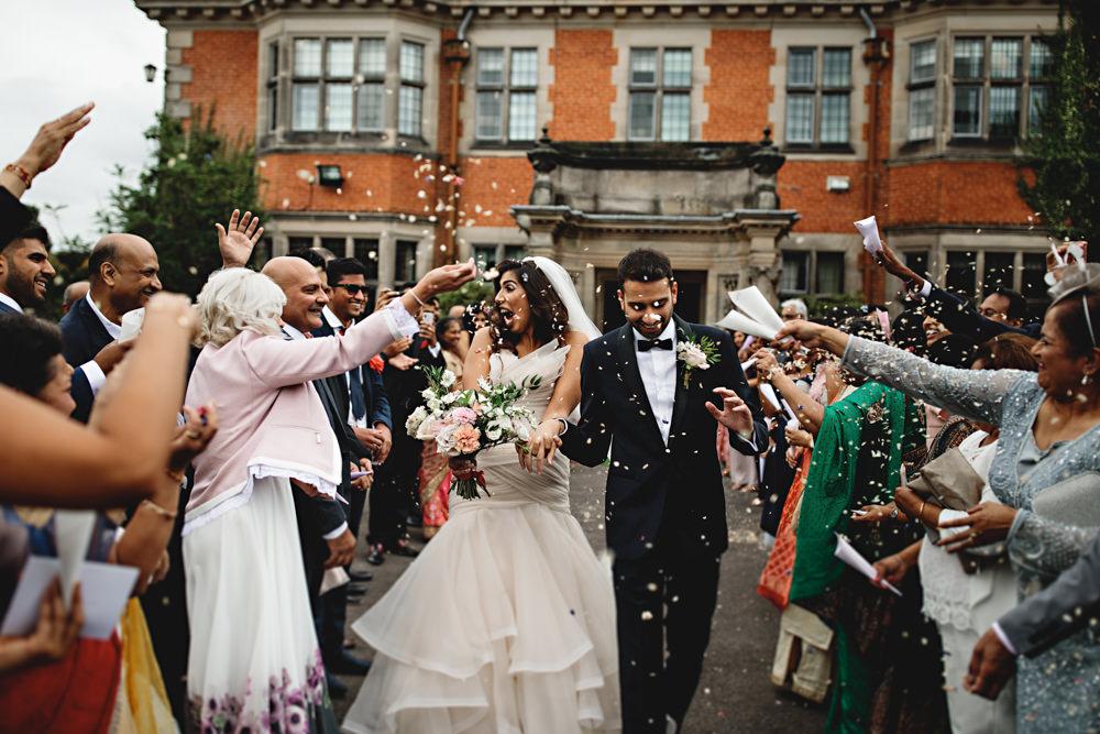 Confetti Throw Dunchurch Park Hotel Wedding HBA Photography