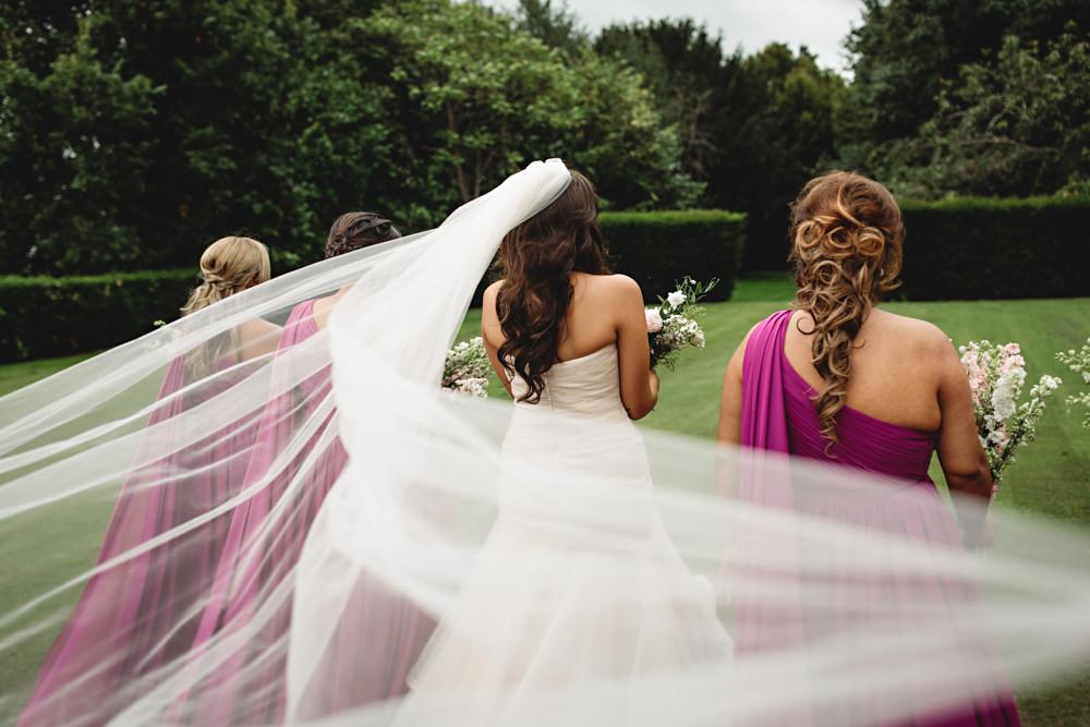 Bride Bridal Veil Dunchurch Park Hotel Wedding HBA Photography
