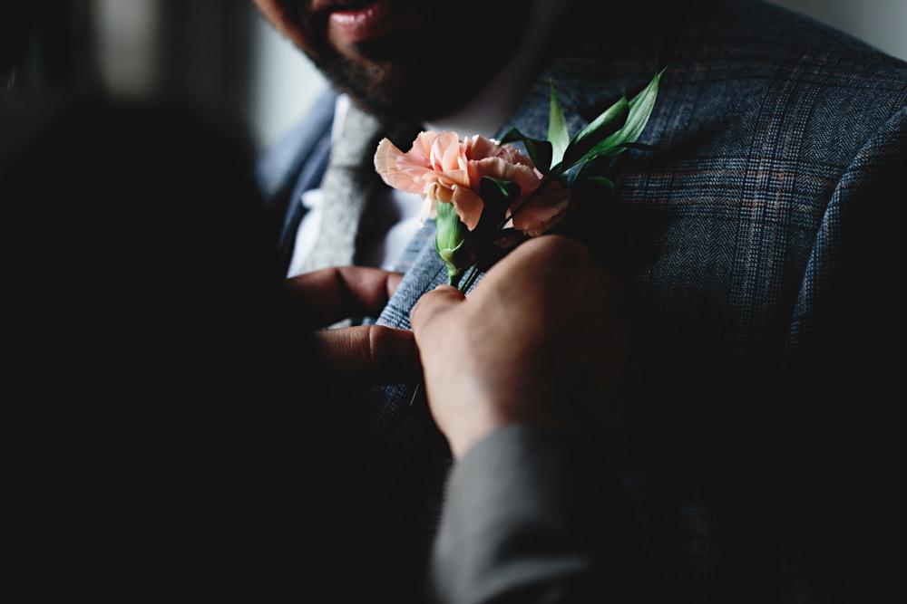 Buttonhole Flowers Dunchurch Park Hotel Wedding HBA Photography
