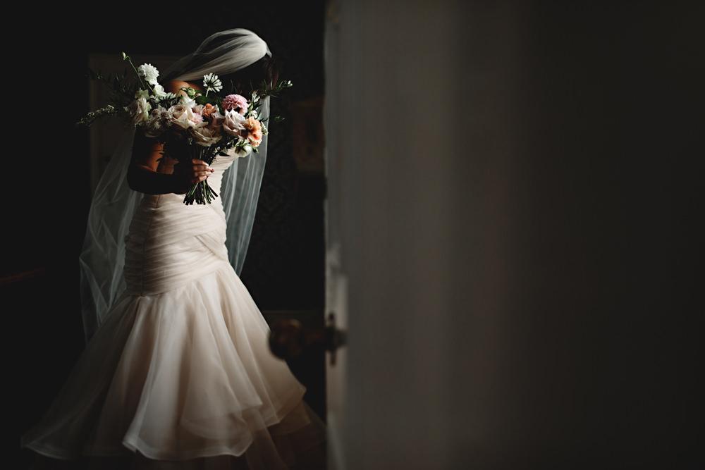 Dress Gown Bride Bridal Essense of Australia Lace Fit Flare Dunchurch Park Hotel Wedding HBA Photography
