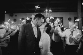 Sparkler Sparklers Exit Send Off Field Kitchen Wedding Siobhan Amy Photography