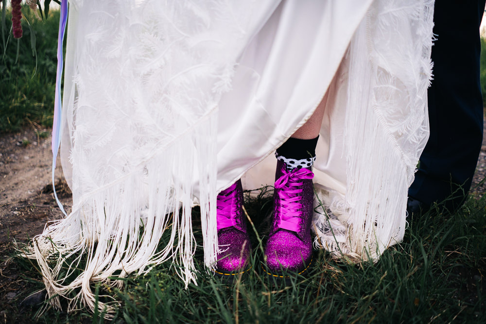 Dr Martens Bride Bridal Boots Hammer and Pincers Wedding Sally T Photography