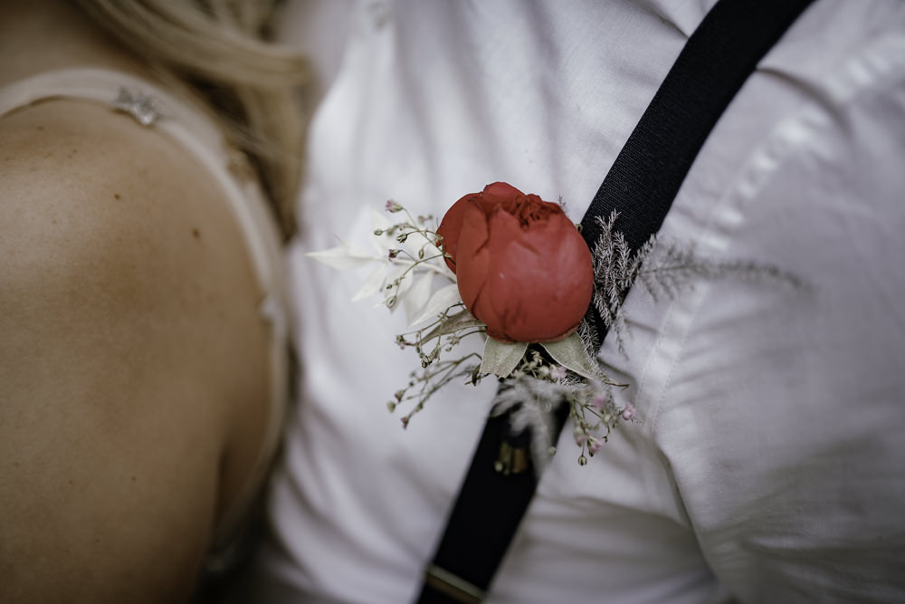 Groom Buttonhole Flowers Peony Midsummer Night's Dream Wedding Ideas Dani Louise Photography