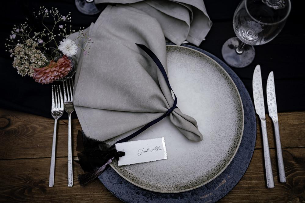 Place Setting Decor Plate Napkin Place Name Midsummer Night's Dream Wedding Ideas Dani Louise Photography