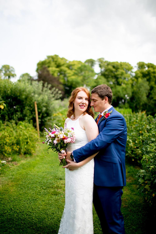 Pythouse Kitchen Garden Wedding Jessica Hayman Photography Bride Bridal Dress Gown David's Bridal Sequins Floral Straps
