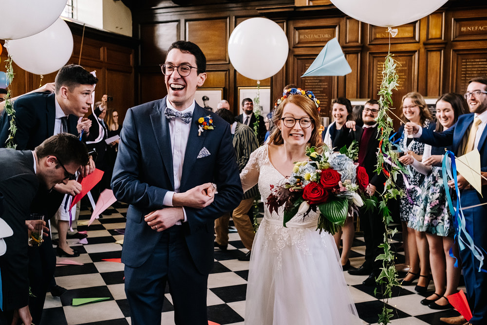 Confetti Flags Ribbon Wands Royal Hospital Chelsea Wedding Kristian Leven Photography
