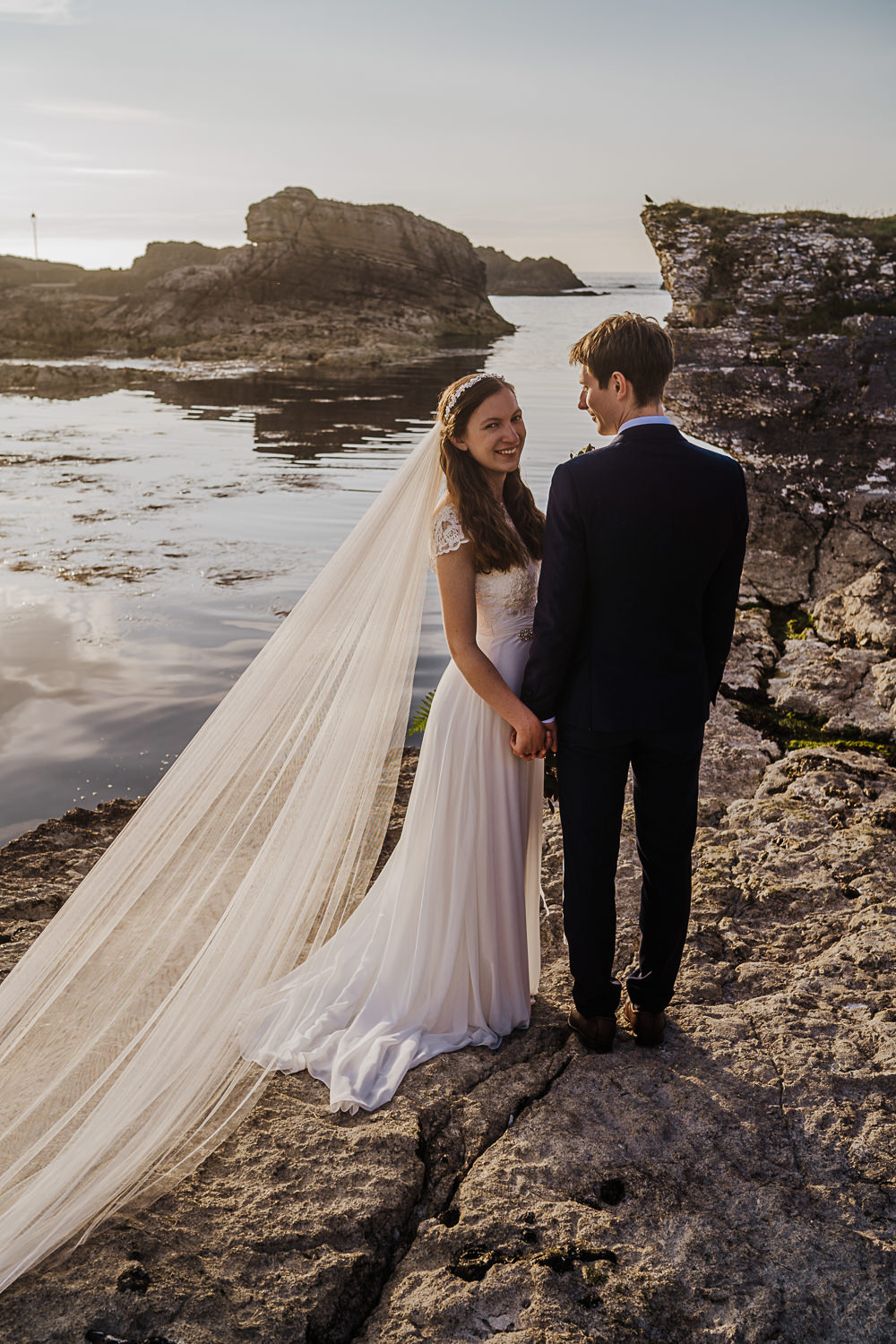 Dress Gown Bride Bridal Lace Cap Sleeves Wed2B Veil Socially Distanced Wedding Tiffany Gage Photography