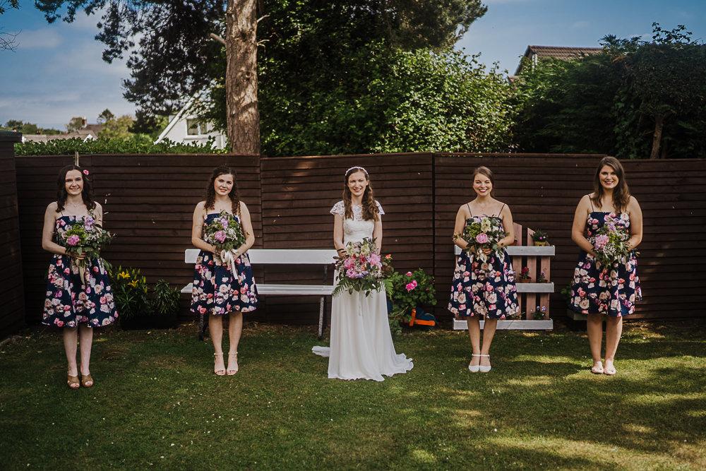 Bridesmaids Bridesmaid Dress Dresses Floral Socially Distanced Wedding Tiffany Gage Photography