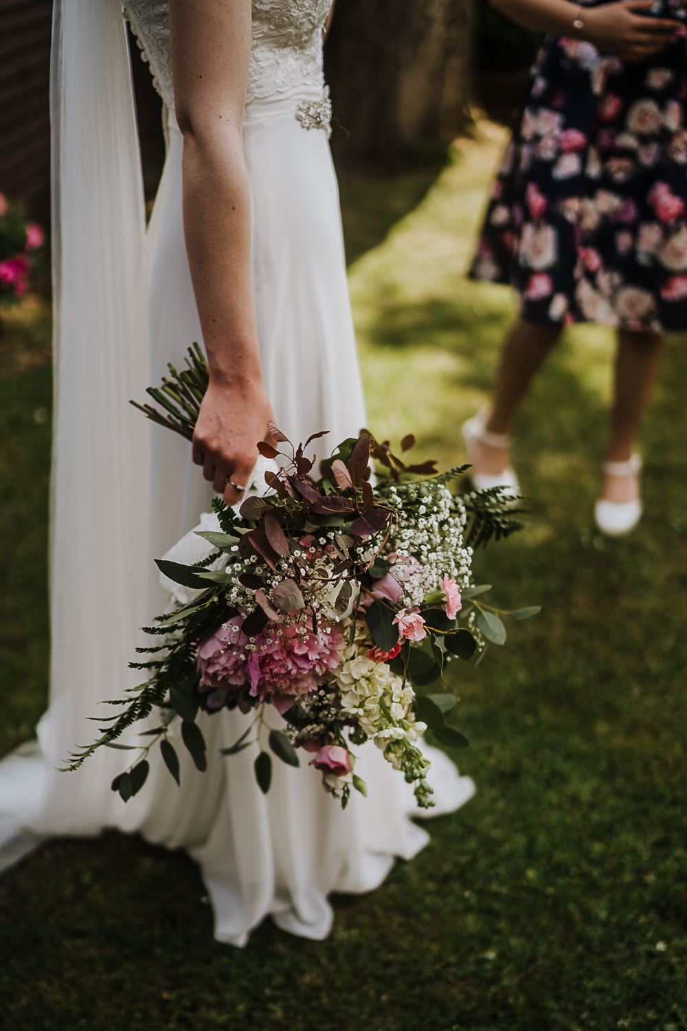 Bouquet Flowers Bride Bridal Pink Peony Rose Socially Distanced Wedding Tiffany Gage Photography