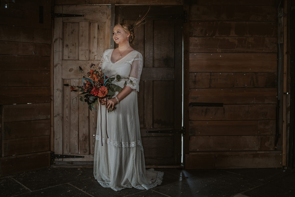 Dress Gown Bride Bridal Long Sleeves Art Wedding Ideas Tom Halliday Photography