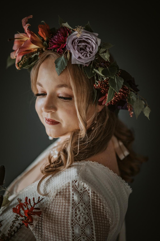 Bride Bridal Make Up Flower Crown Art Wedding Ideas Tom Halliday Photography