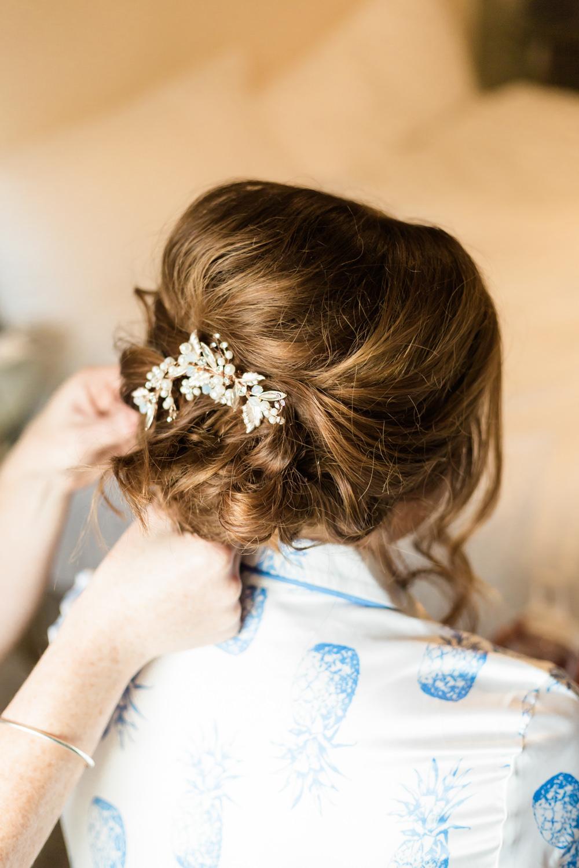 Bride Bridal Hair Style Up Do Doxford Barns Wedding Lara Frost Photography