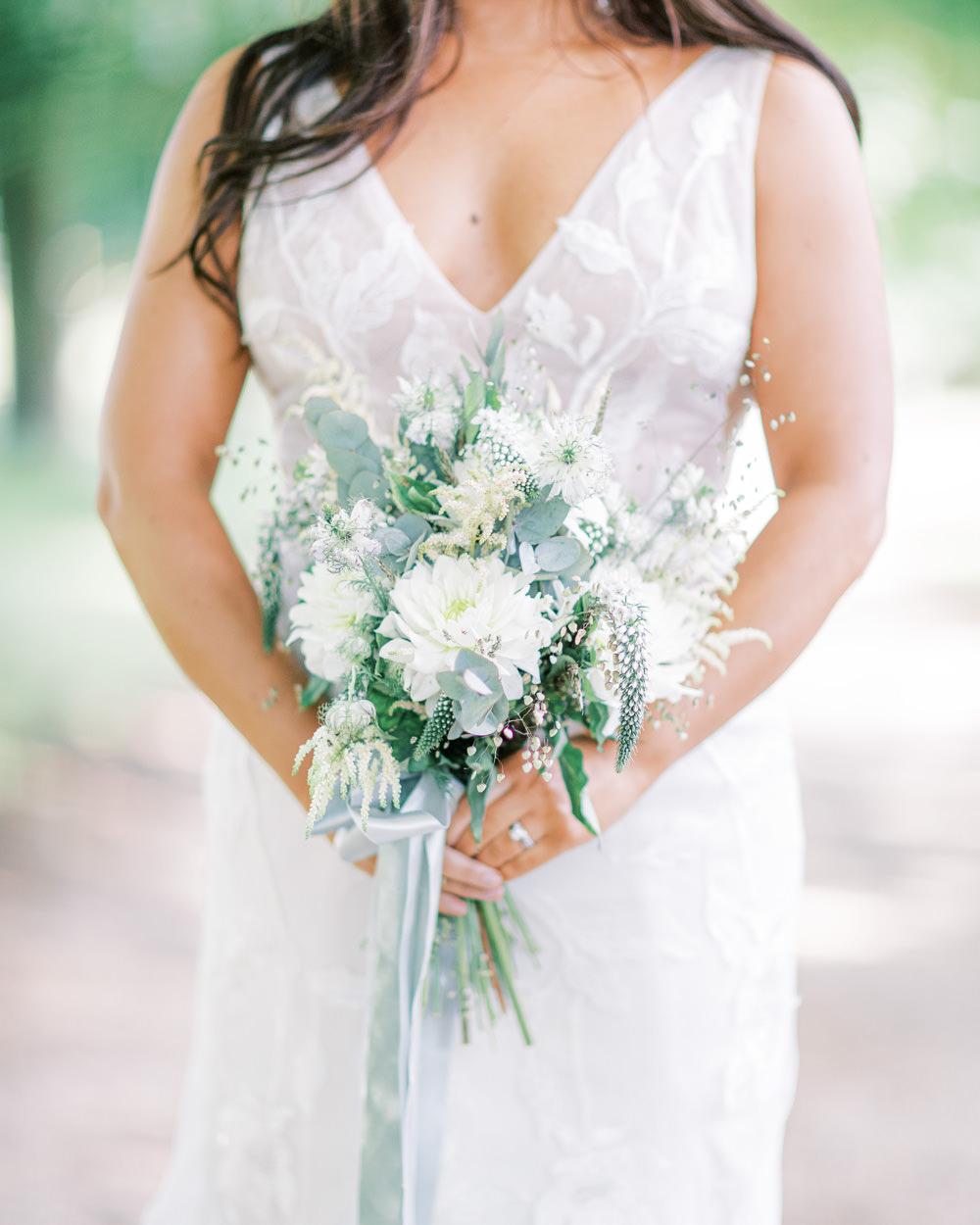 Bride Bridal Bouquet Flowers Blue White Family Elopement Ideas Sophie May Photo