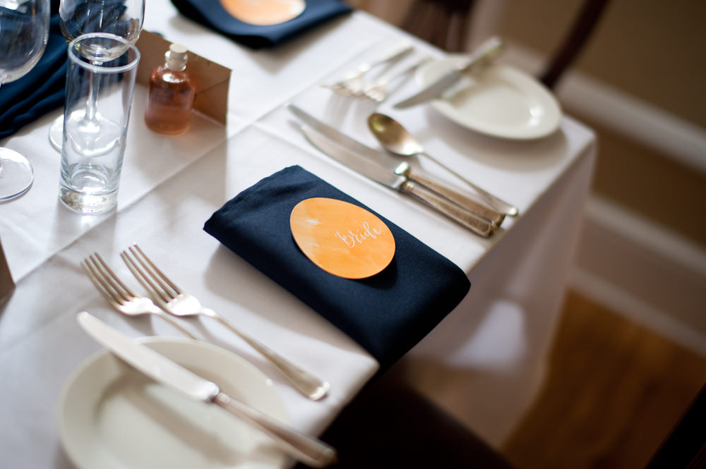 Place Name Setting Floral Wedding Rachael Connerton Photography