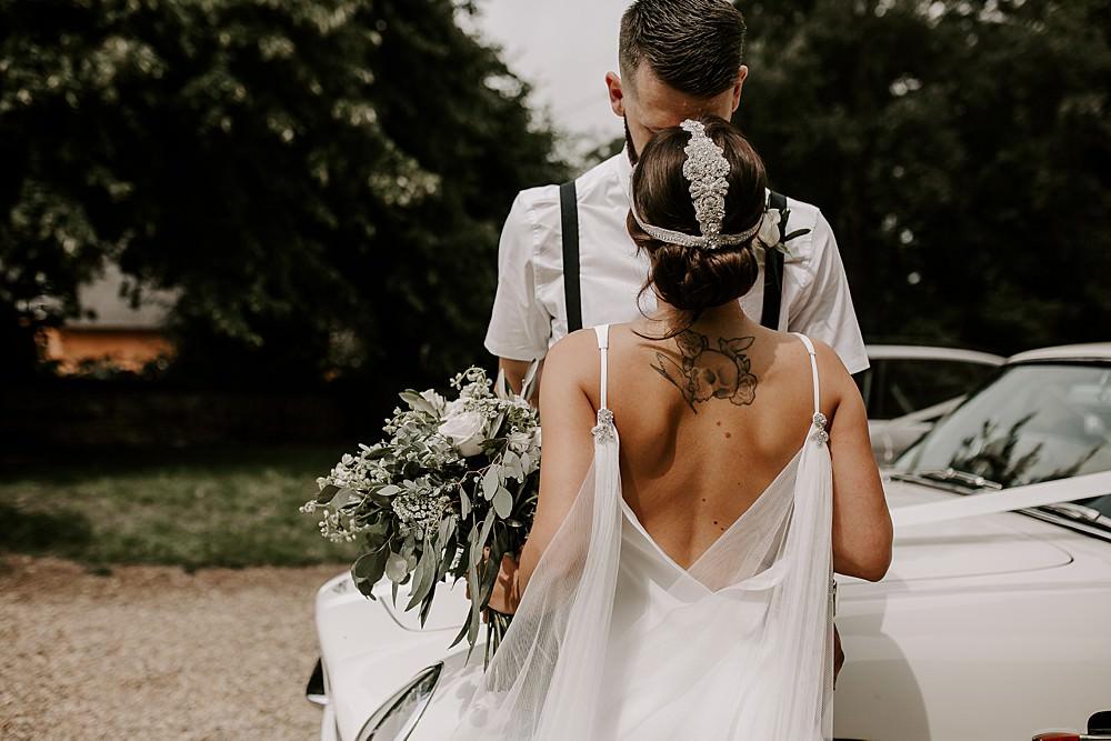 Dress Gown Bride Bridal Charlie Brear Cape Veil Glevering Hall Wedding Sharon Cudworth Photography