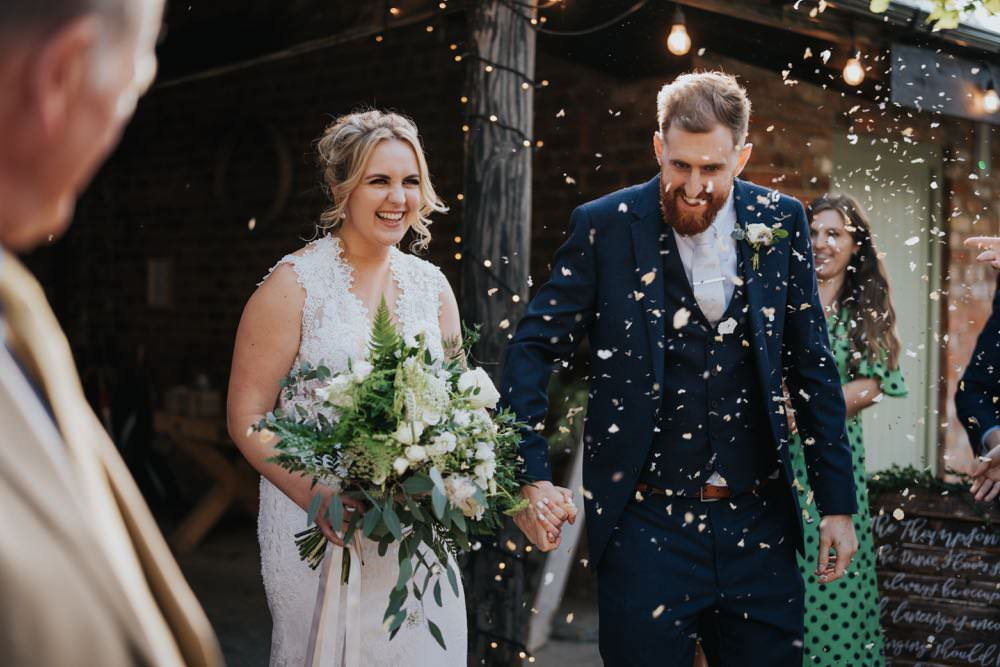 Confetti Throw The Barns East Yorkshire Wedding Bloom Weddings