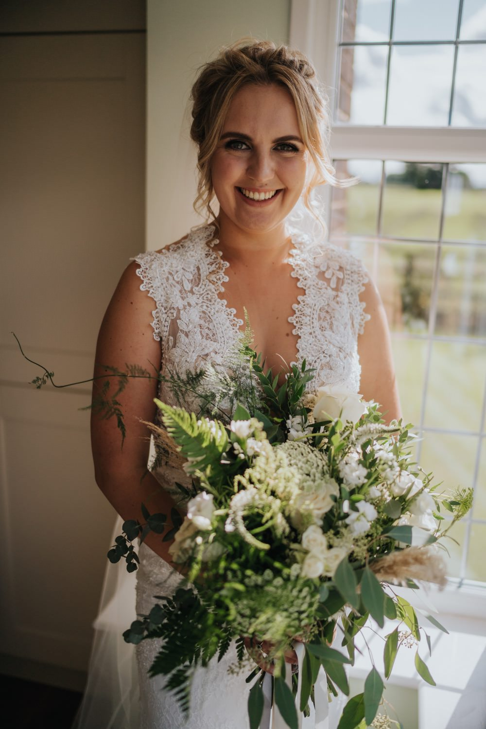 Bride Bridal Dress Gown Lace The Barns East Yorkshire Wedding Bloom Weddings