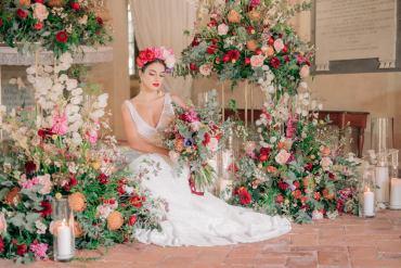 Flower Installation Florals Backdrop Tuscan Wedding Ideas Giuseppe Giovannelli