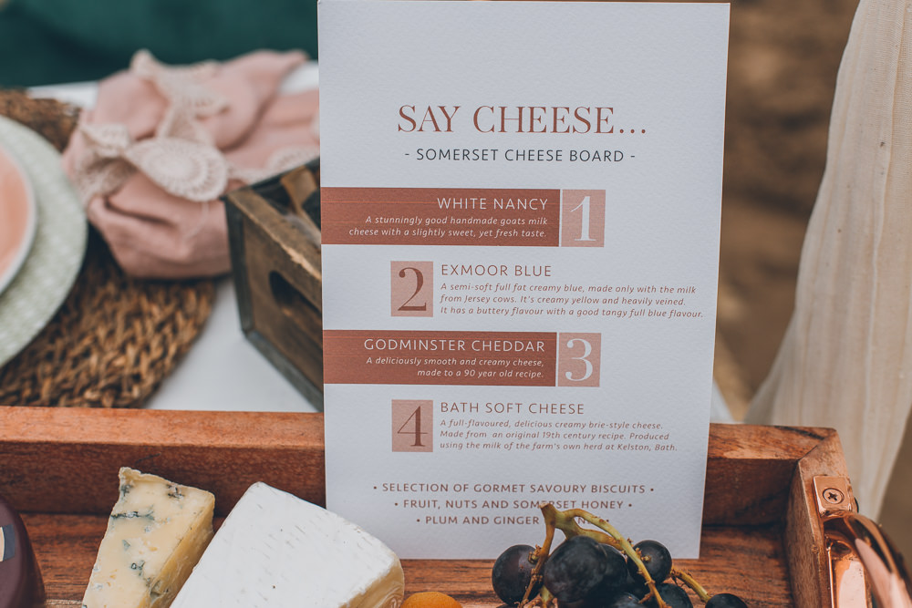 Cheese Board Platter Food Beach Wedding UK Maria Madison Photographer