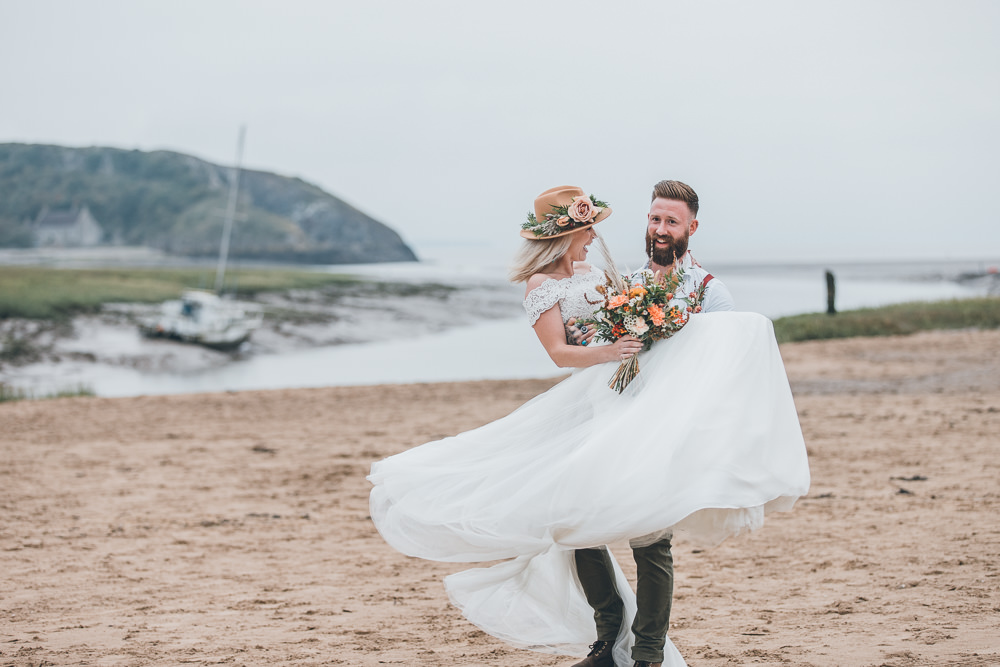 Beach Wedding UK Maria Madison Photographer