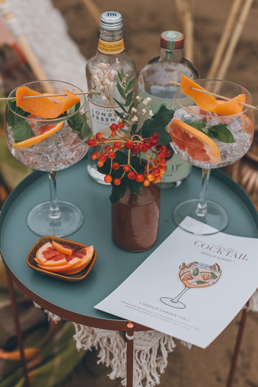 Drinks Cocktails Beach Wedding UK Maria Madison Photographer