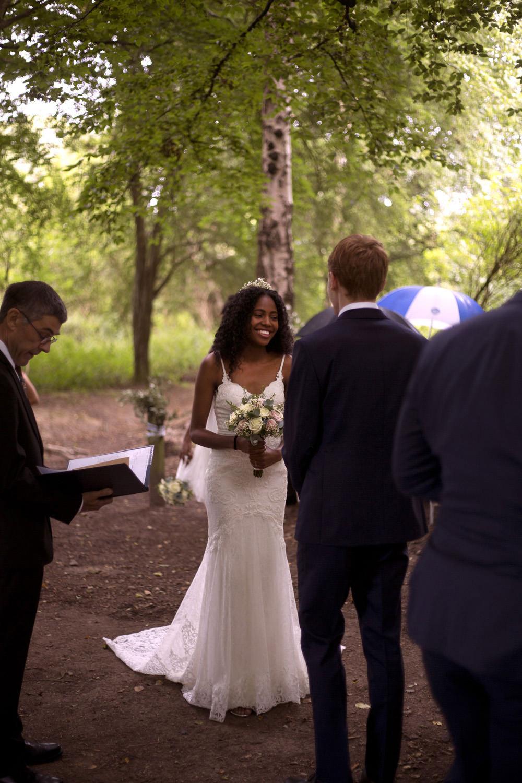 Woodland Ceremony Cuffley Camp Wedding Heather Winstanley Photography