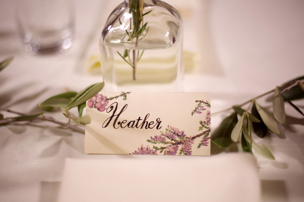 Place Name Card Cuffley Camp Wedding Heather Winstanley Photography