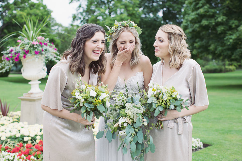 Bridesmaid Bridesmaids Dress Dresses Hide Sheffield Wedding Sasha Lee Photography