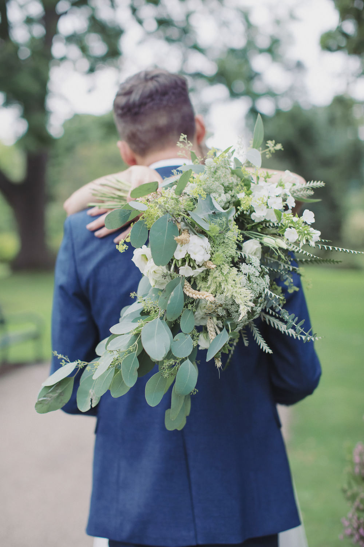 Bride Bridal Bouquet Flowers Greenery Foliage Hide Sheffield Wedding Sasha Lee Photography
