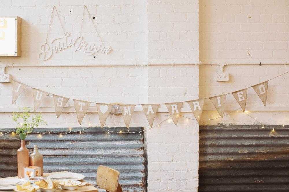 Bunting Decor Hide Sheffield Wedding Sasha Lee Photography
