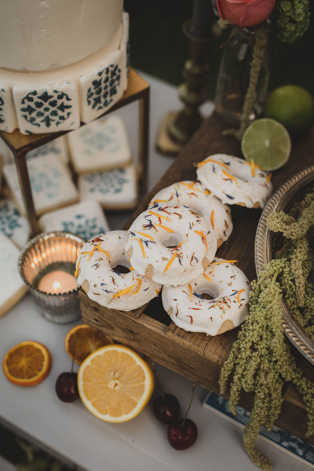 Jervaulx Abbey Wedding Ideas Laura Adams Photography Iced Donuts Doughnuts
