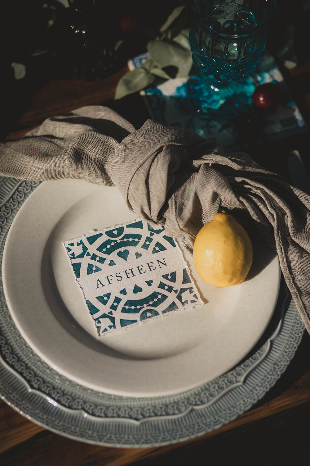 Jervaulx Abbey Wedding Ideas Laura Adams Photography Place Setting Decor Napkin Place Name