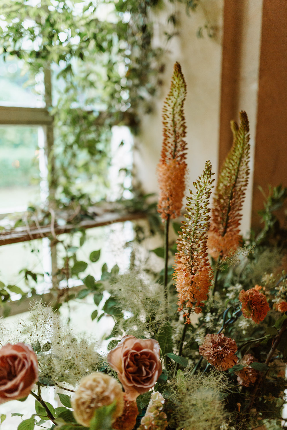 Peach Flowers Decor Foliage Natural Wedding Ideas Frame Of Love