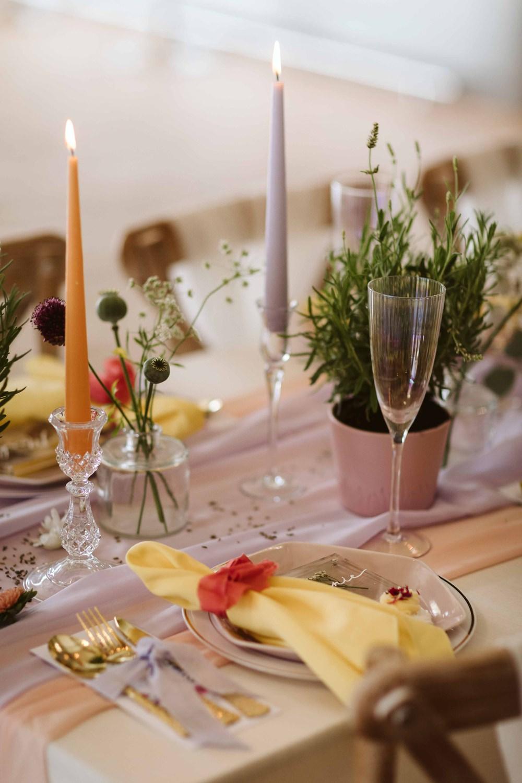 Place Setting Decor Napkin Oakwood at Ryther Wedding Freya Raby