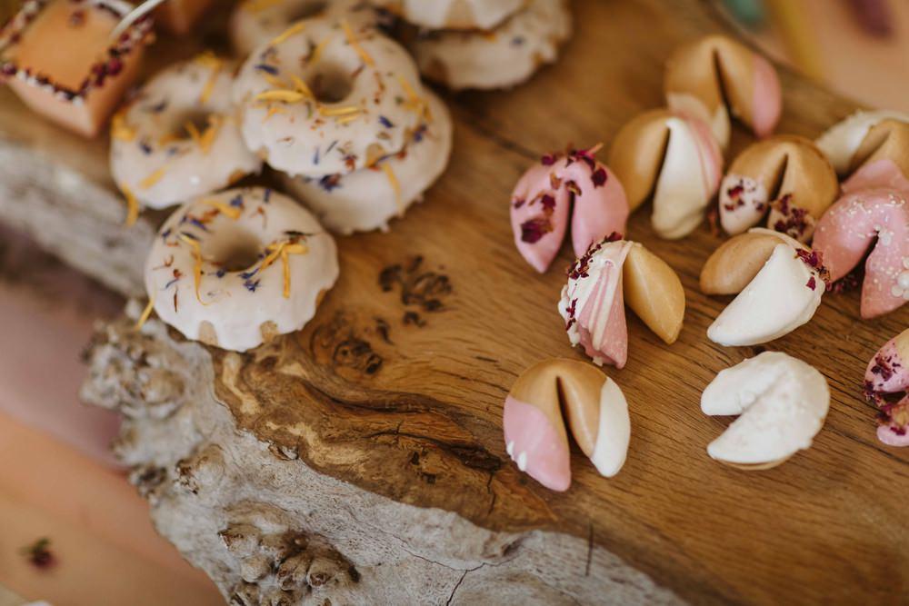 Cakes Dessert Sweet Treats Table Oakwood at Ryther Wedding Freya Raby