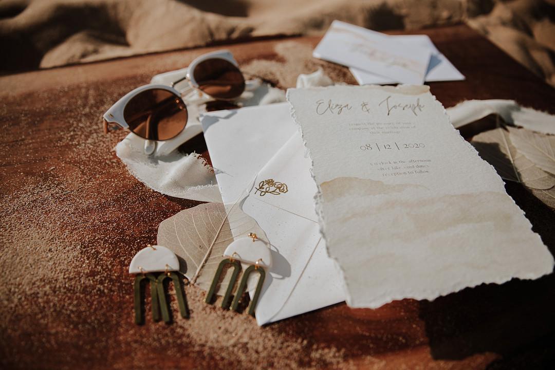 Sand Dunes Wedding Photos By Gayle Stationery Invite Invitation