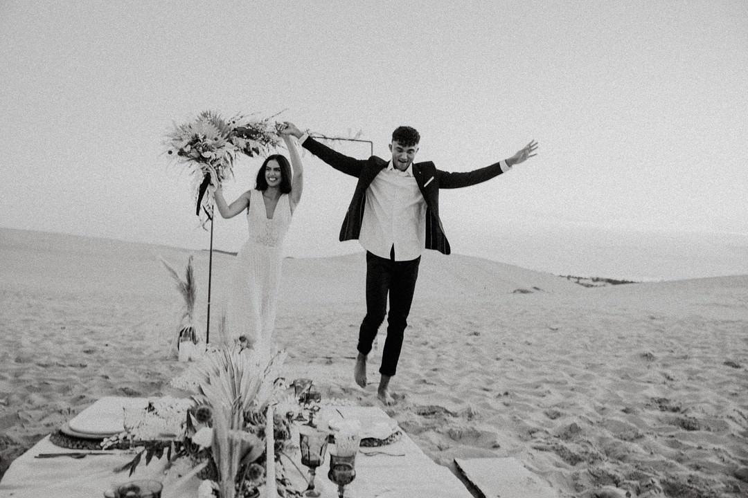 Sand Dunes Wedding Photos By Gayle