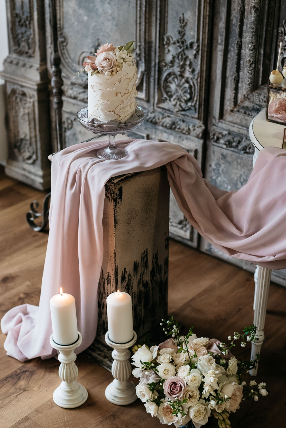 Cake Table Luxury Dramatic Flowers Candles Swan Lake Wedding Ideas Salsabil Morrison