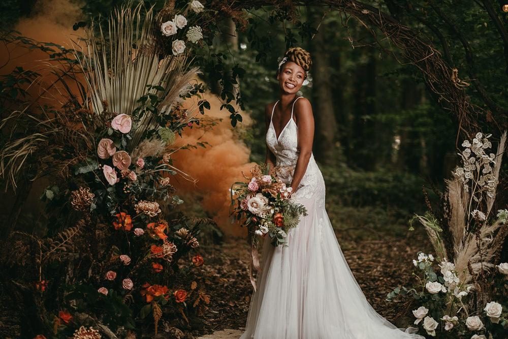 Smoke Bomb Woods Wedding Tom Jeavons Photography