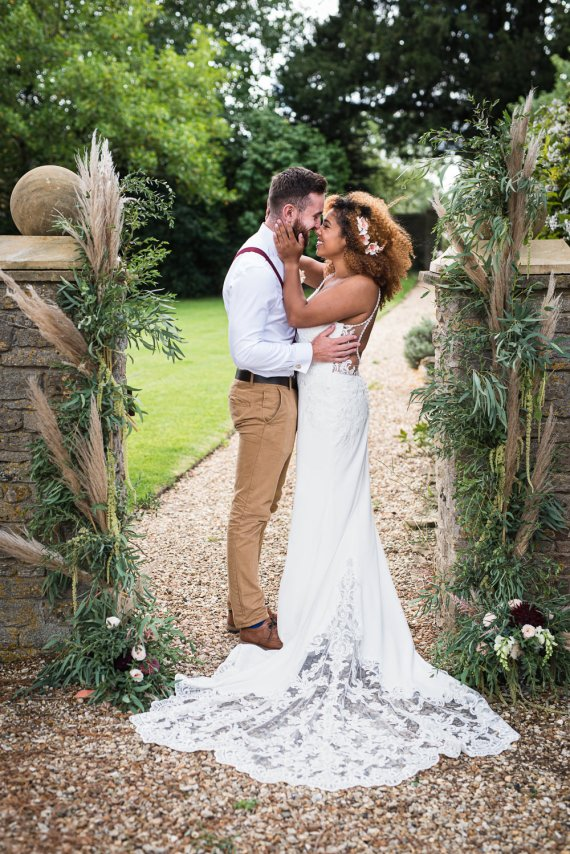 Barn Elopement FJS Wedding Photography Dress Gown Bride Bridal Lace Train