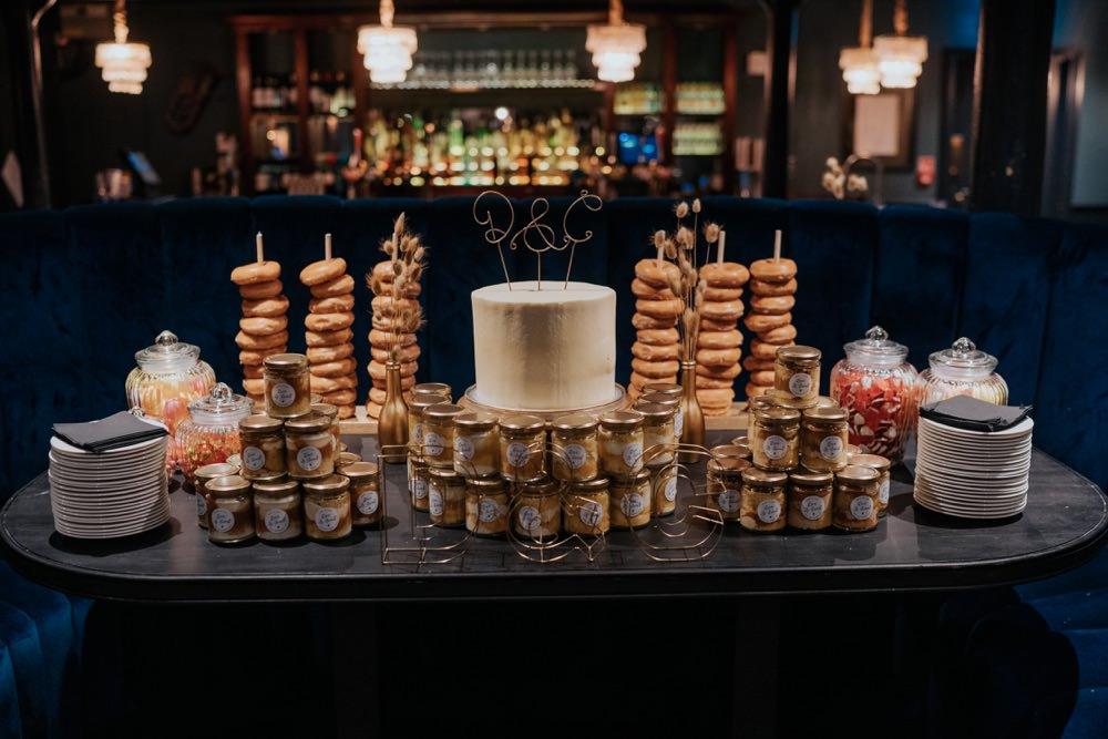 Cake Desssert Table Doughnuts Donuts Brighton Town Hall Wedding Bloom Weddings