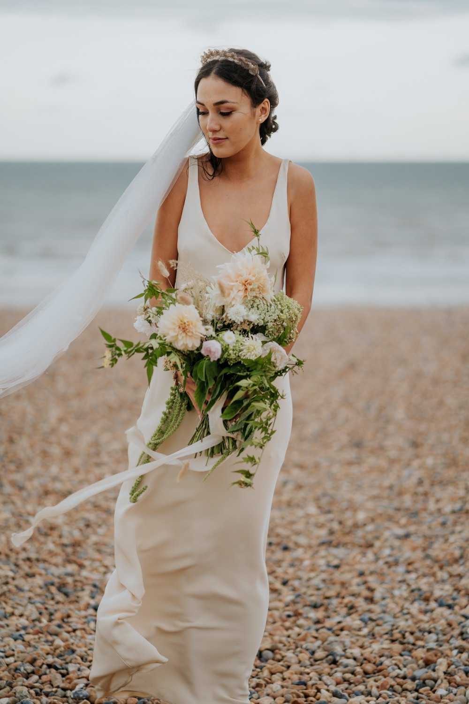 Dress Gown Bride Bridal Slip Dress Brighton Town Hall Wedding Bloom Weddings