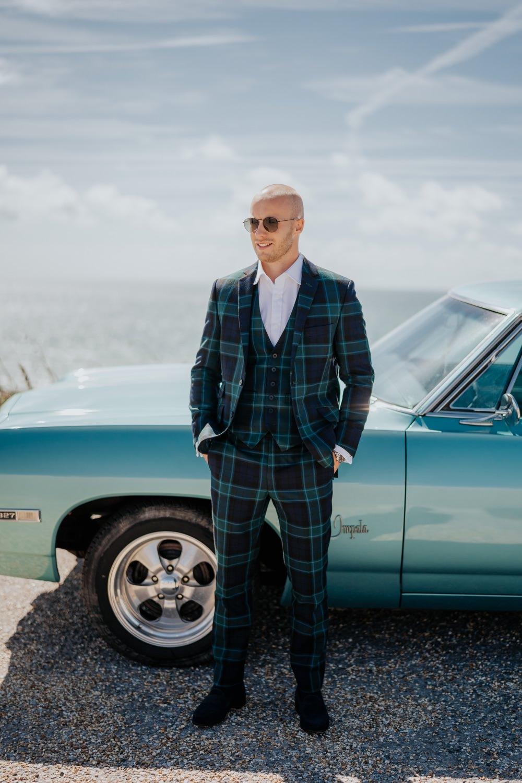 Groom Suit Tartan Check Brighton Town Hall Wedding Bloom Weddings