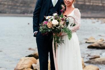 Beautiful Coastal Love in the Mist Covid Wedding