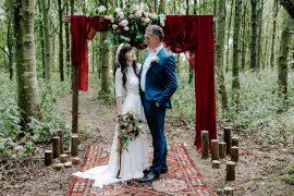 Dark Pink Wedding Ideas Caroline Opacic Photography