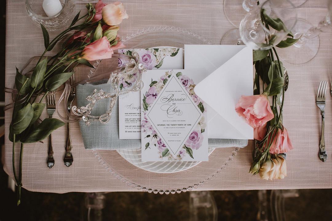 Stationery Invite Invitation Floral Fairytale Forest Wedding Christina W Kroeker Creative