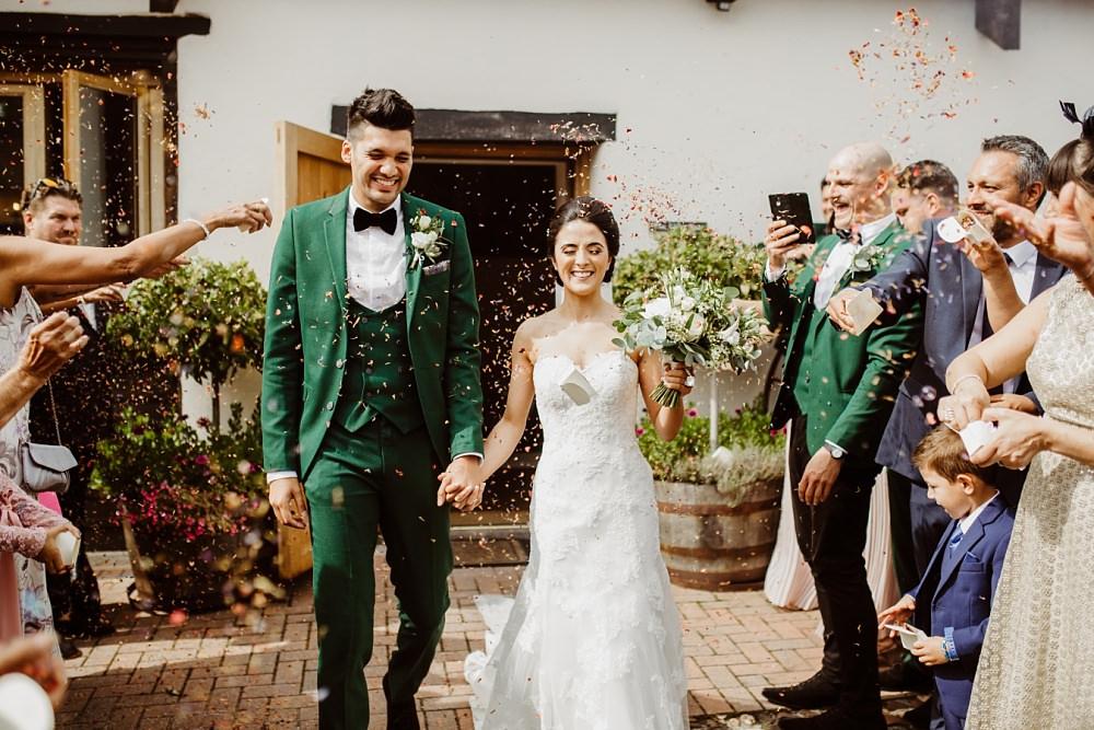 Confetti Throw Greek English Wedding Holly Collings Photography