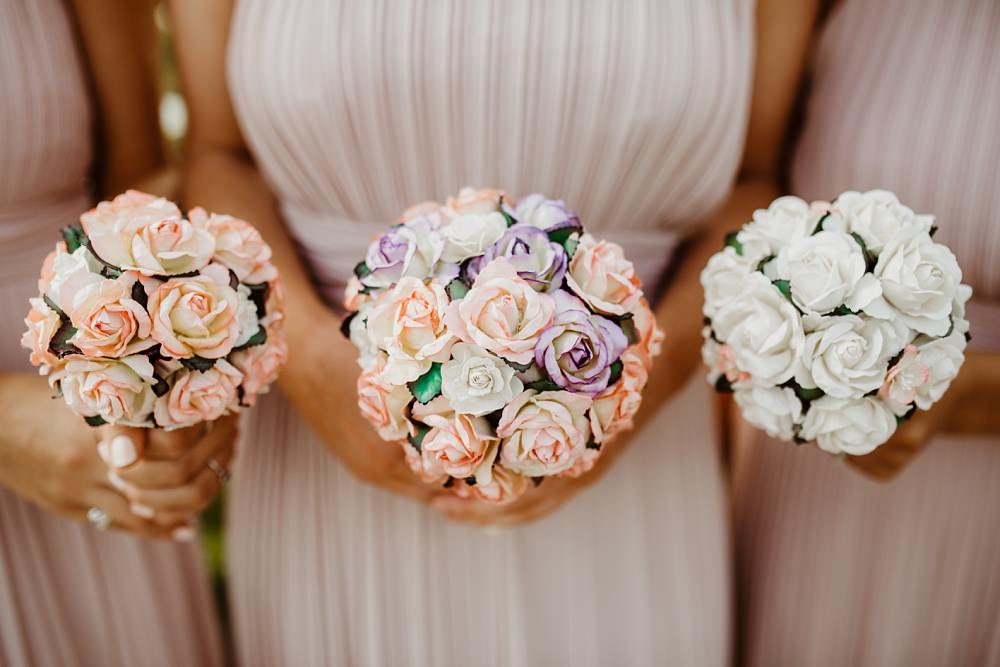 Bridesmaid Bouquets Flowers Pastel Greek English Wedding Holly Collings Photography